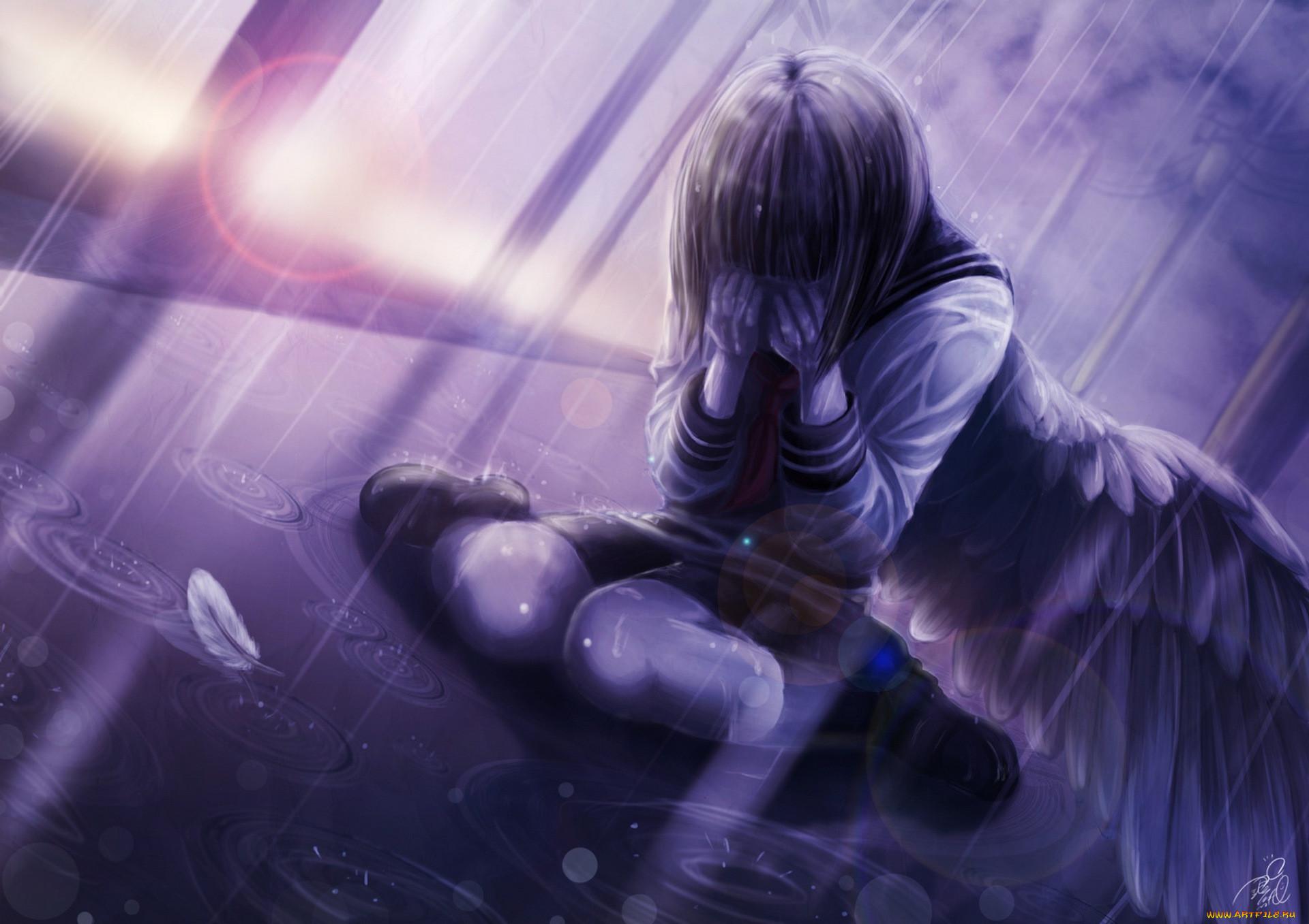 Картинки боль слезы аниме